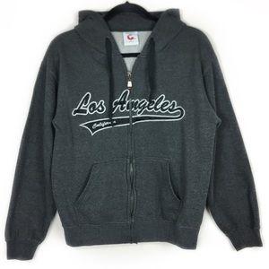 3/$15 Gray hood sweater, Size Small.